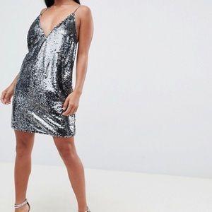 ASOS DESIGN Petite all over sequin cami mini dress